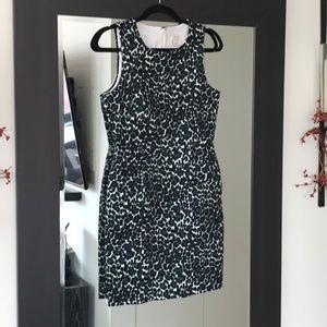 JCrew printed A Line Dress